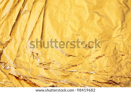 the pile of gold sheets, background