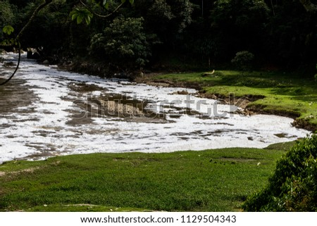 The pollution of the Medellín River, Colombia, is caused mainly by commercial and industrial companies. The majority of companies in the Aburrá Valley are connected to the public sewer network #1129504343