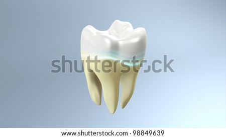 The process of health white tooth for tooth care concept.