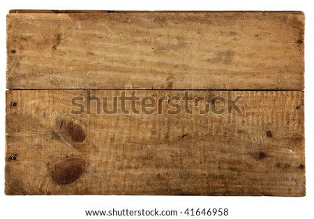 the really old wooden board, from old box, isolated on white
