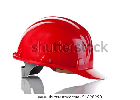 the red bright helmet