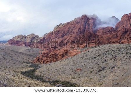 The Red Rock canyon near las vegas , Nevada.