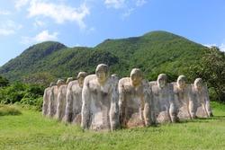 the slaves memorial de l'anse caffard, martinique, caribbean