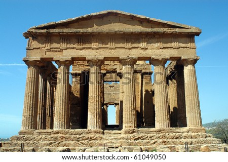 """""""The temple of Concord"""" in """"the Valley of the Temples"""" in """"Agrigento"""""""