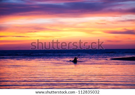 The tropical sunset in Thailand,Andaman sea.
