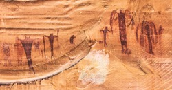 The unique Barrier Canyon Style pictographs of Buckhorn Wash in the San Rafael Swell, central Utah.  These anthropomorphs were created over 2000 years ago by Archaic people
