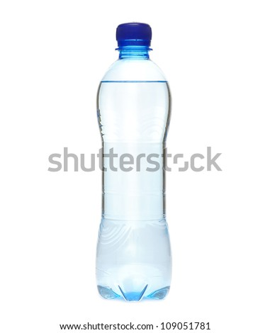 The water in plastic bottle
