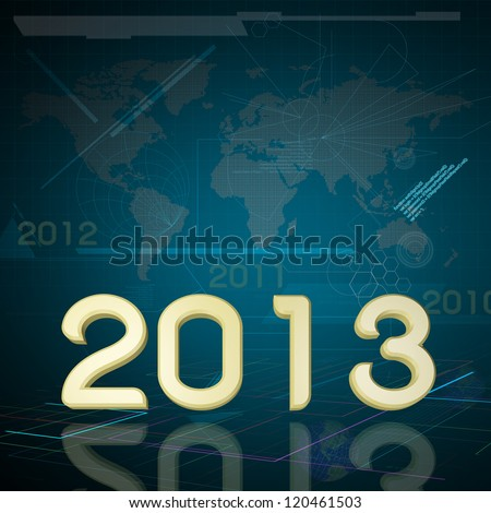 2013 the Year on Technology Background