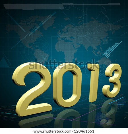 2013 the Year on Technology Background.  Elements of this image furnished by NASA.