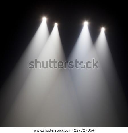 theater spot light on black background #227727064