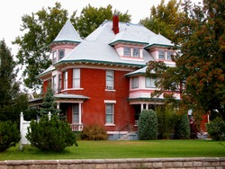 This Queen Anne style mansion is a historical landmark in Weiser, Idaho.
