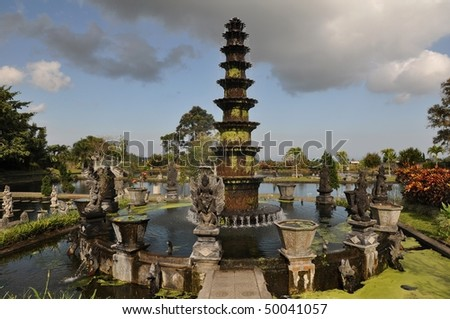 11 tiered lotus fountain - symbol of Tirta Gangga, Bali, Indonesia #50041057