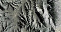 time wrinkles,   United States, abstract photography of relief drawings in  fields in the U.S.A. from the air, Genre: Abstract Naturalism, from the abstract to the figurative,