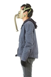 times of social unrest, gas mask, fight,