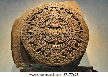 24-Ton Aztec Calendar Stone - Mexico City