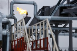 Torch. Oil production in Russia.