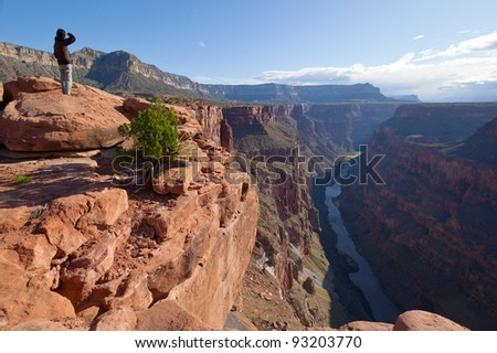 Toroweap Point, Grand Canyon National Park - stock photo