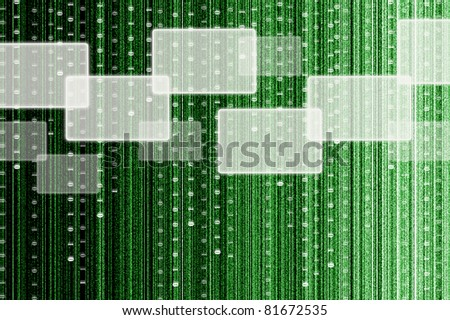touch screen interface with digital matrix background