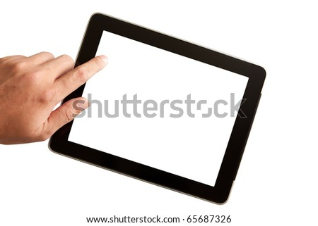 Touchpad with finger and hand