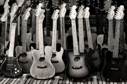 toy guitar background