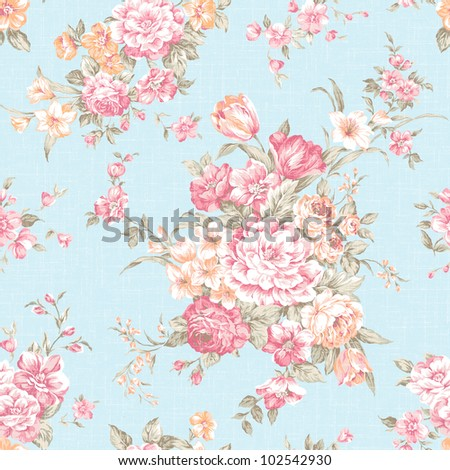 Traditional classic rose seamless pattern  - For easy making seamless pattern use it for filling any contours.