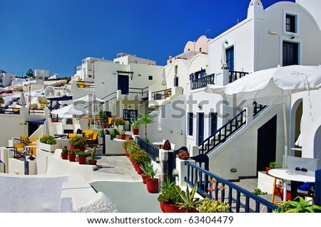 traditional cycladic architectural style Santorini