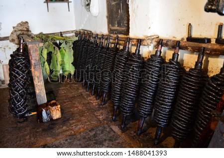 Traditional Homemade Rope Smoke Production