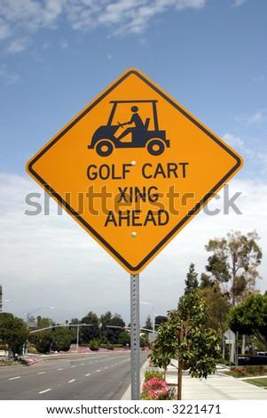 """traffic sign"" series ""golf card xing"""