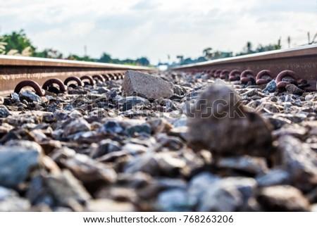Train Railroad train station Logistic Railroad tracks