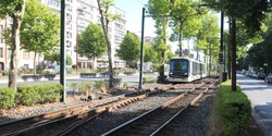 Tramway linking the city of Lille to Roubaix and Tourcoing in the north of France