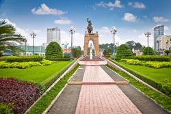Tran Nguyen Han- Memorial at Cho Ben Thanh in Saigon, Vietnam.