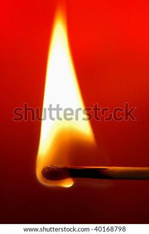 """Traveling Matchbook Fire, Dark"" Fire experiment, single matchbook separated, home studio"