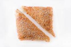 Triangular minced meat pie, fresh  Patty