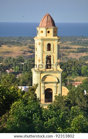 Trinidad City, Cuba, landscape Top view