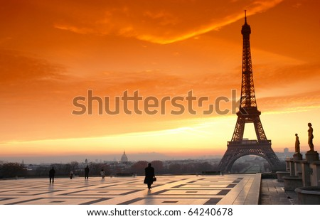 trocadero square and eiffel tower