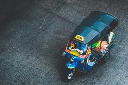 TukTuk a mechanized three-wheeled taxi