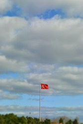 turkey red and white Turkish flag