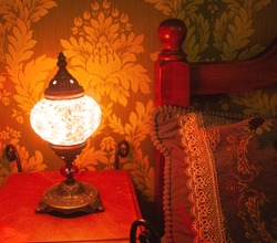 Turkish red Mosaic Glass Table Lamp