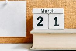 21 twenty first day of Spring month calendar march.