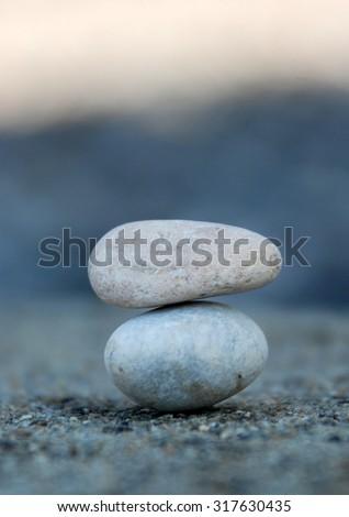 two balanced stones. Zen like