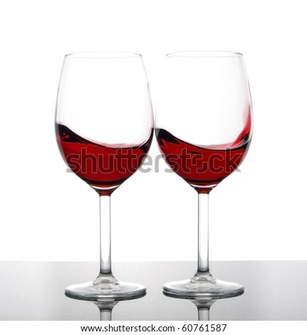 Two glass of red wine