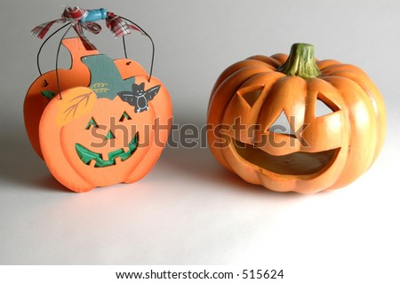 two halloween decorations