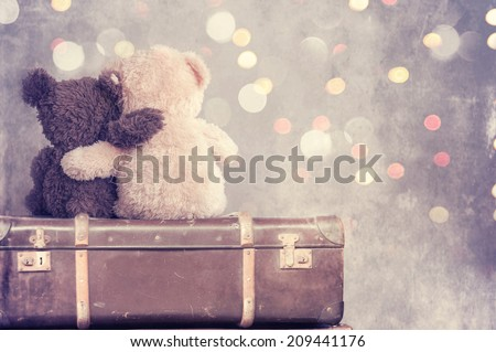 Shutterstock  two teddy bears holding in one's arms