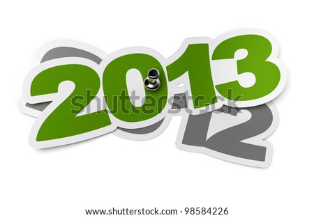 2013 - two thousand thirteen green sticker over 2012 two thousand