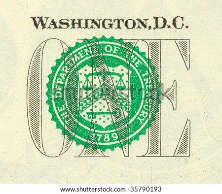 U.S. banknote detail (high definition)