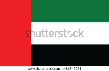 Unite Arab Emirates flag illustration,textured background, Symbols of Unite Arab Emirates