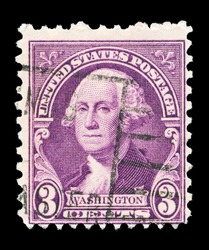 UNITED STATES - CIRCA 1932: A stamp printed in the United States, shows portrait of George Washington (1732-1799), circa 1932