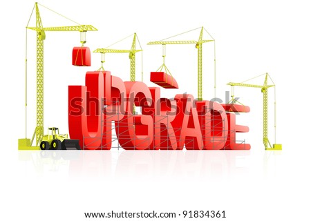 upgrade to next latest software version, upgrading website to new generation, download updated model of computer program, updating product improved quality;