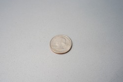 2020 USA 25 cents quarter with two giant flying fox fruit bats on back side.