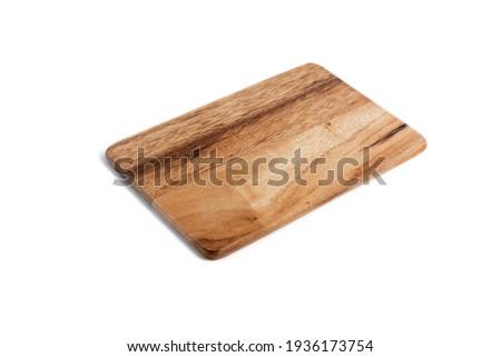 Сutting board for stylish kitchen on white background Foto stock ©